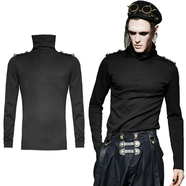 Gothic- / Uniform-Shirt General langarm - Größe: L-2XL
