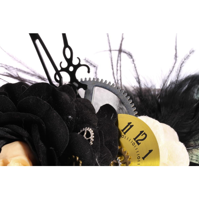 Gothic- Steampunk-Fascinator Skull