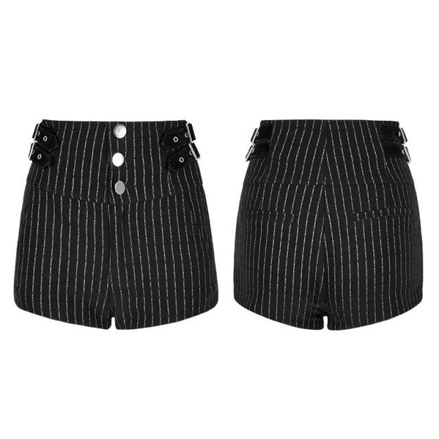 Retro-Highwaist-Short Vintage Girl mit Pinstripes