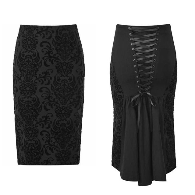 KILLSTAR Bloodlust Pencil Skirt Gothic Rock. Damen Nu...