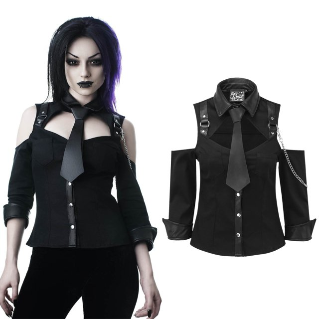 Killstar Kalista Teachers Pet Shirt Damen Gothic Oberteil...