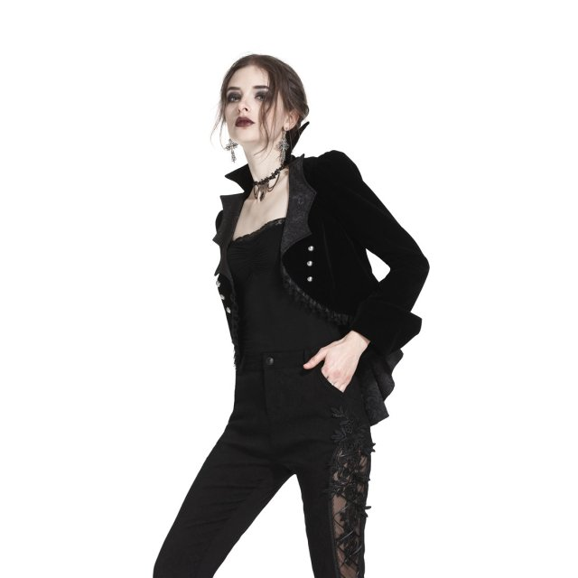 Dark in Love Kurzjacke Mortuss mit Fledermausrevers