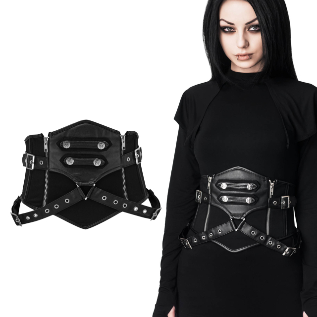 KILLSTAR Army of Darkness Havoc Corset Damen Gothic...
