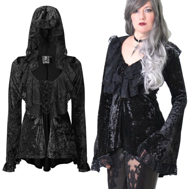 KILLSTAR Cosmia Hooded Duster - Romantisches...