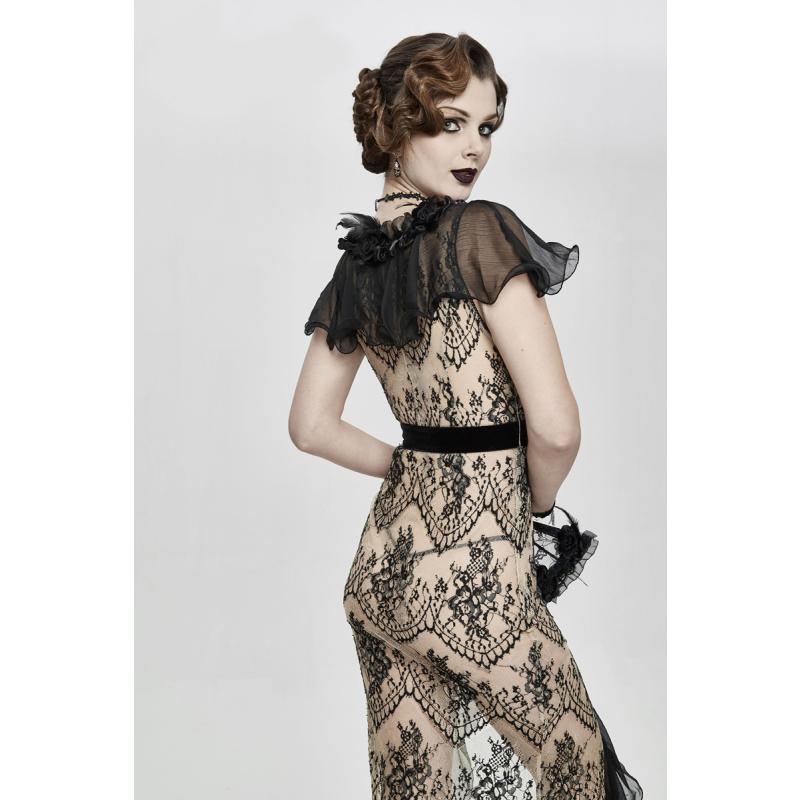 Eva Lady Transparentes Twenties Kleid Boudoir Noir