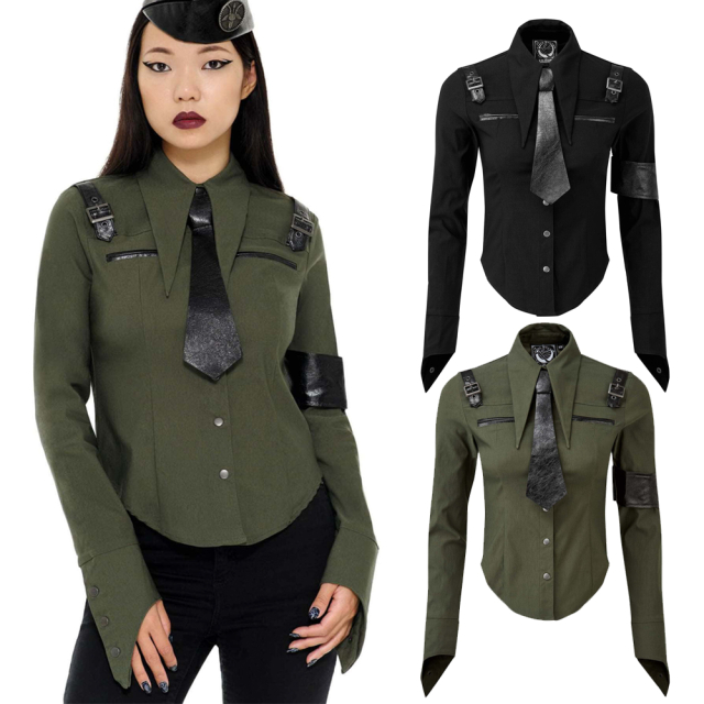 KILLSTAR Secret Mission Shirt in khaki oder schwarz -...
