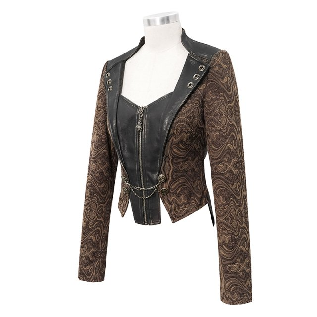 Braune Steampunk-Jacke Copperplate