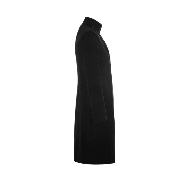 Asymmetrical velvet cord skirt Winston with trimmings - size: S